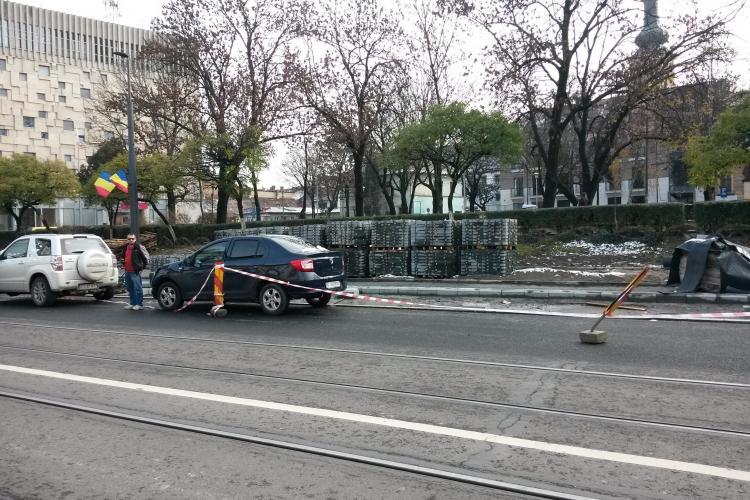 Boc nu recepționează trotuarele cu granit din centrul Clujului