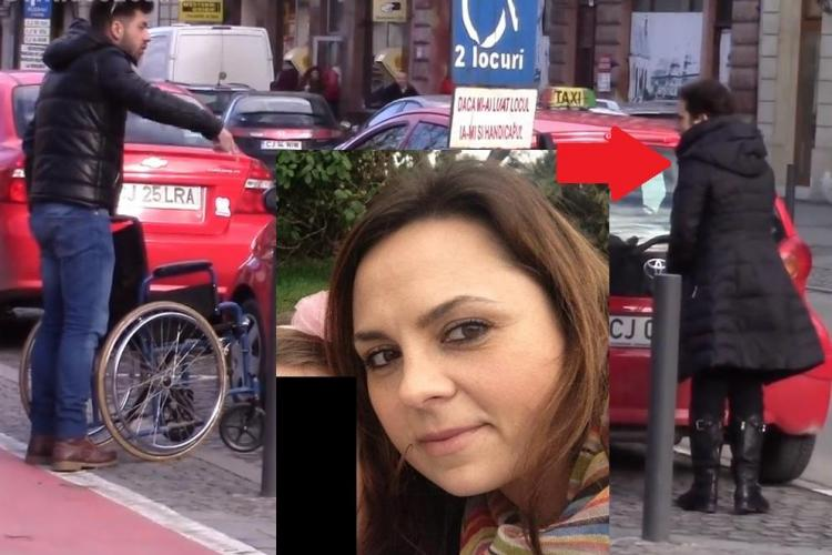 """O avocată din Cluj, șoția unui ȘEF de la Orange, a SFIDAT după ce a parcat pe locul de handicap: """"Așa și..."""""""