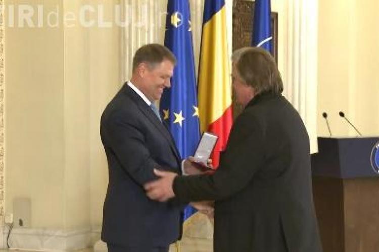 Florin Piersic a fost decorat de președintele Klaus Iohannis. Ce i-a spus actorul clujean șefului statului