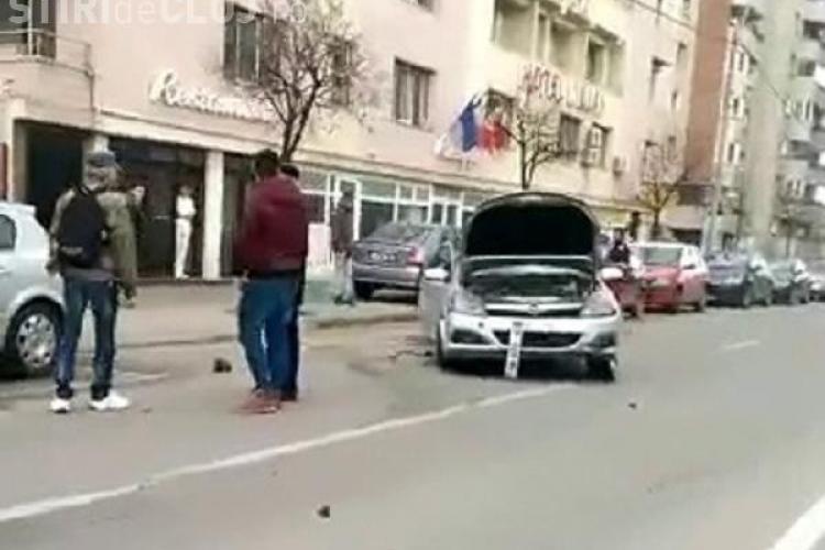 Accident pe strada Dorobanților, lângă Profi Mărăști. Cinci mașini sunt avariate - VIDEO
