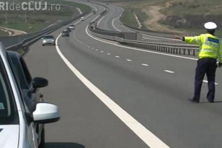 Un vitezoman din Florești, prins cu 203 km/h pe Autostrada Transilvania