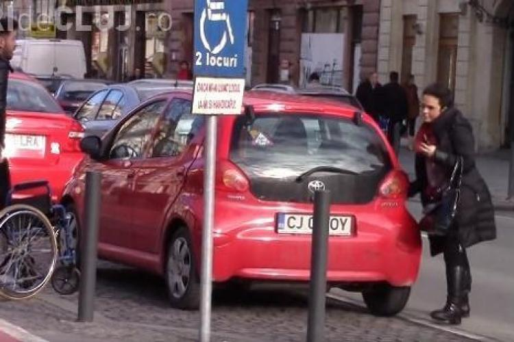 Baroul Cluj nu o va sancționa pe avocata care a parcat pe locul persoanelor cu handicap