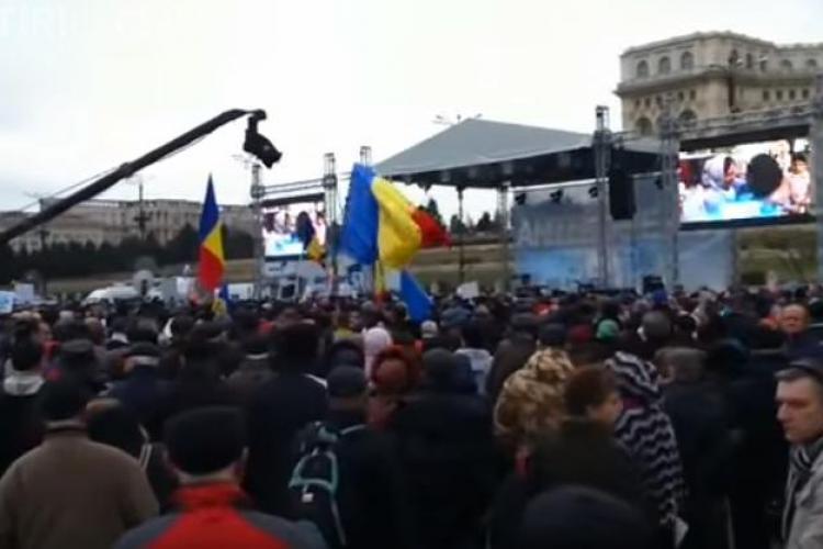 Peste 3.500 de persoane s-au adunat la mitingul Antenelor, din București - VIDEO