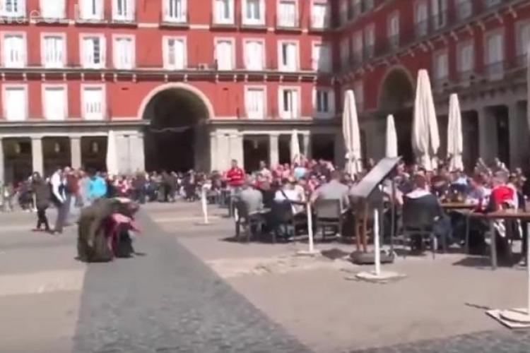 Suporterii UMILESC în ultimul hal mai multe cerșetoare de etnie romă - VIDEO