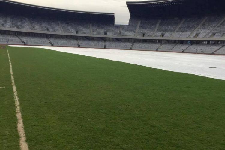 Cum arată gazonul de pe Cluj Arena cu două săptămâni înainte de meciul România - Spania - FOTO