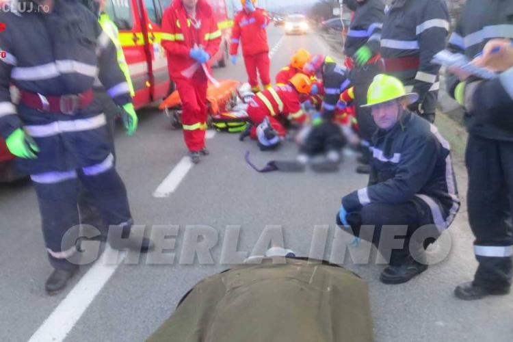 Un colonel SRI Cluj a murit într-un accident, lângă Gherla - FOTO