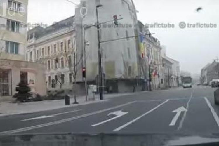 Dilema benzilor de pe strada Moților. Ce a pățit un șofer clujean - VIDEO