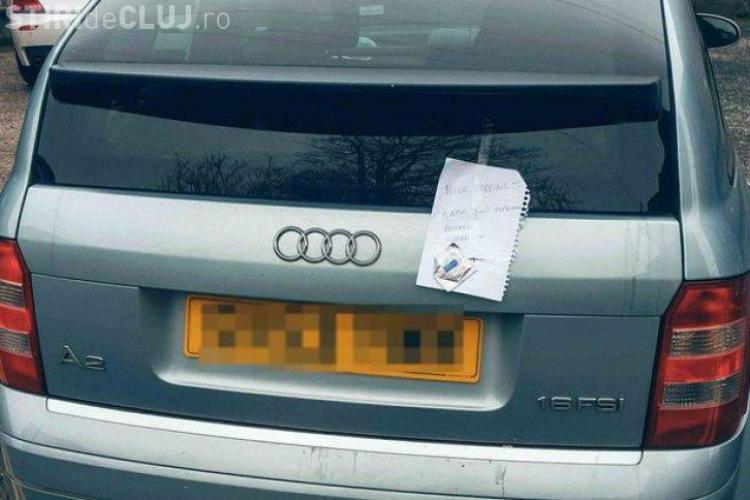 I-a lăsat un bilet și un prezervativ după ce a parcat pe un loc nepermis și l-a făcut de râs