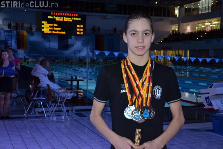 Ana Dascăl a câștigat 10 medalii la mitingul de natație de la Chalon