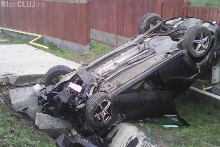 Clujean decedat în urma unui accident rutier. S-a izbit cu mașina de un cap de pod FOTO