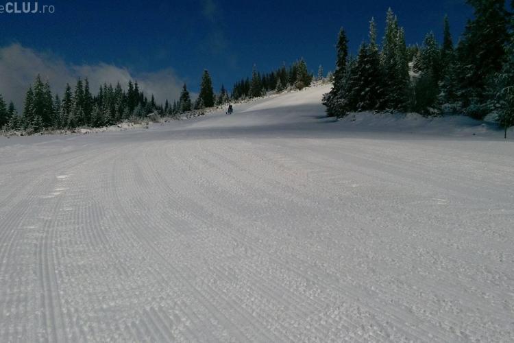 S-a redeschis pârtia Buscat! Cât de mult a nins la Băișoara - FOTO
