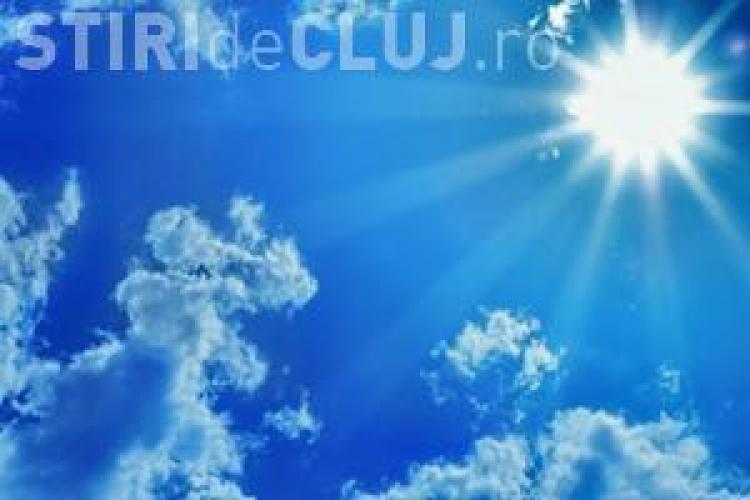 Soare și temperaturi ridicate în această săptămână la Cluj. Ce anunță meterologii