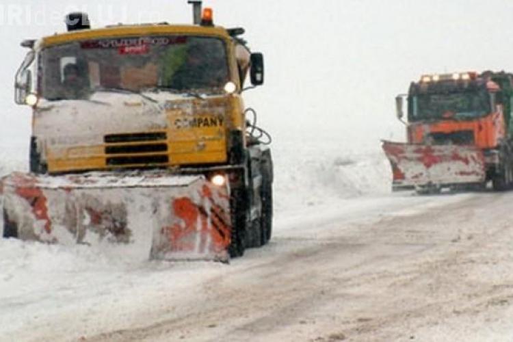 Autobuz înzăpezit la Cluj. Cât a nins la Ciurila și Feleacu - FOTO