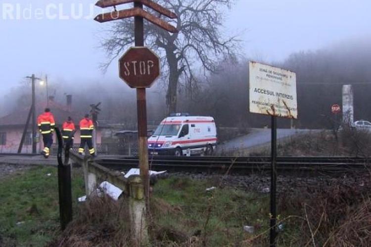Bărbat spulberat de tren la ieșire din Cluj. A murit pe loc VIDEO