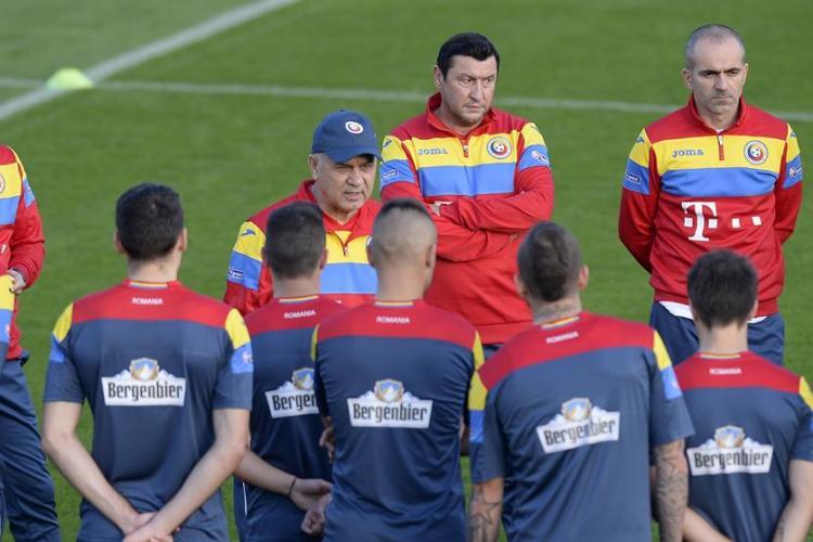 Anghel Iordănescu a mutat antrenamentul naționalei în Gruia
