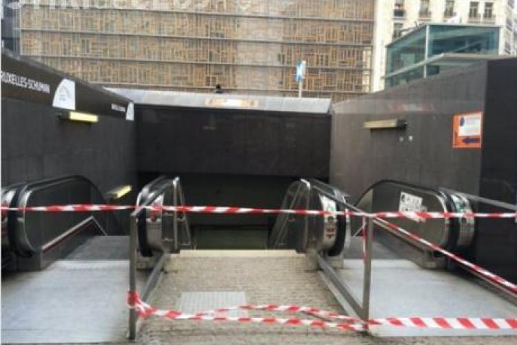Explozie și la METROUL din Bruxelles - VIDEO