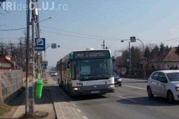 Autobuzul M21 revine în Florești pe strada Cetății
