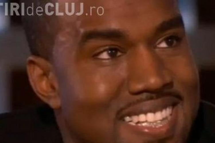 Rapperul Kanye West si-a inlocuit dintii de jos cu diamante - FOTO