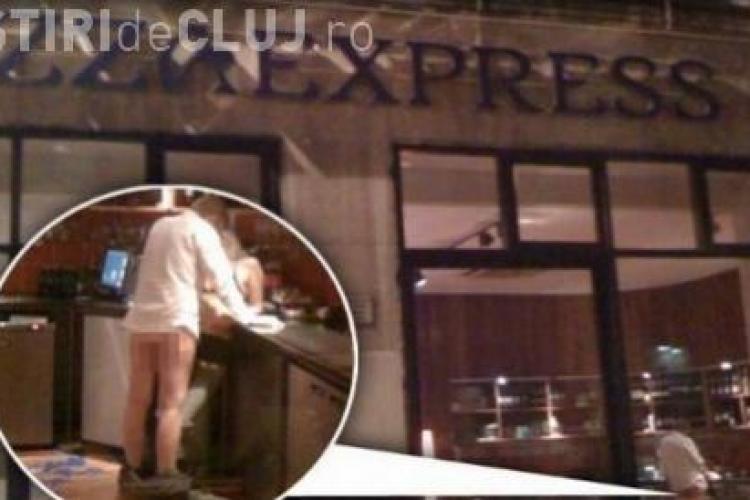 Sex intr-o pizzerie. Un cuplu britanic a fost fotografiat in timp ce facea sex printre mese - FOTO