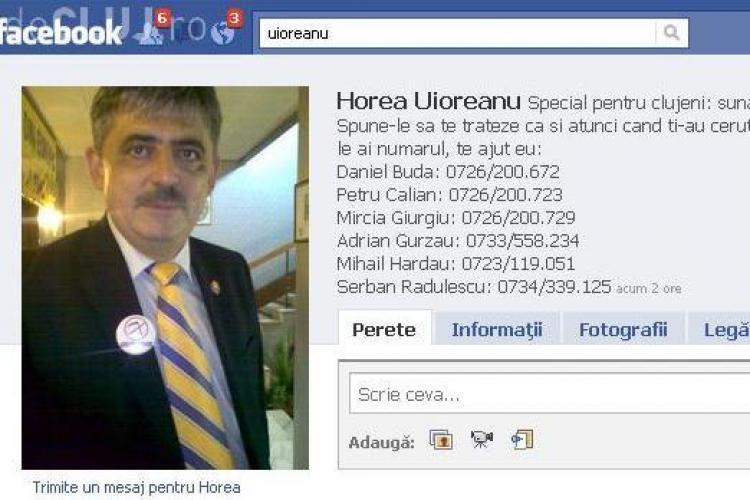 Uioreanu isi indeamna prietenii, pe Facebook, sa-i sune pe parlamentarii PDL Cluj si sa le ceara sa voteze motiunea