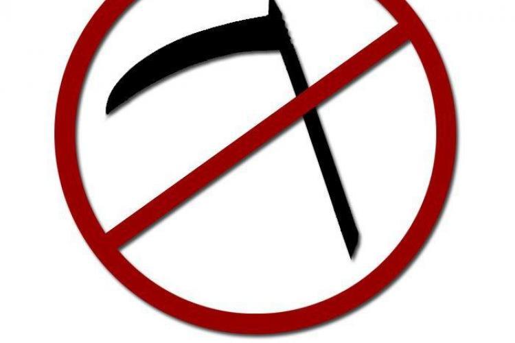Utilizatorii de Facebook i-au pregatit coasa lui Emil Boc! Ei au creat un Logo, prin care sustin motiunea de schimbare a Guvernului