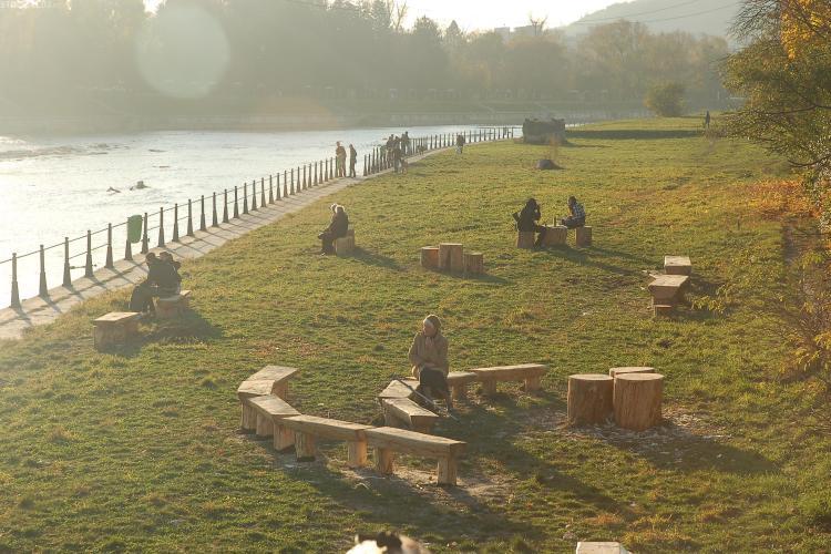 Parc rustic, inaugurat pe malul Somesului, in Grigorescu - FOTO