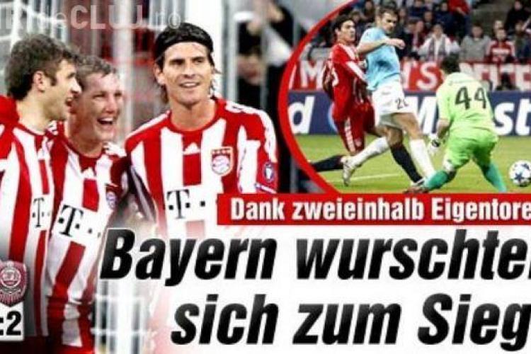 """Presa germana a comentat ironic meciul Bayern - CFR: """"Cluj marcheaza, Bayern castiga!"""""""