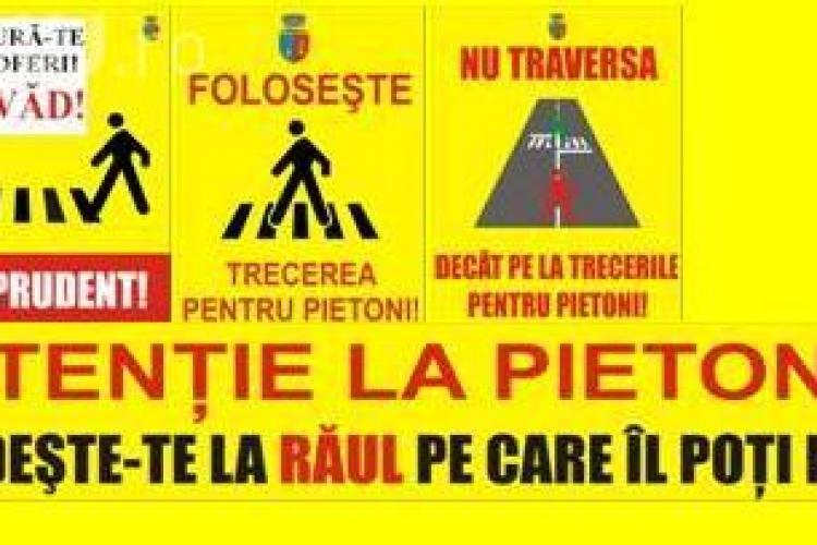 Primaria Cluj Napoca a amplasat marcaje speciale, pentru prevenirea accidentelor! VEZI cum arata si unde sunt montate