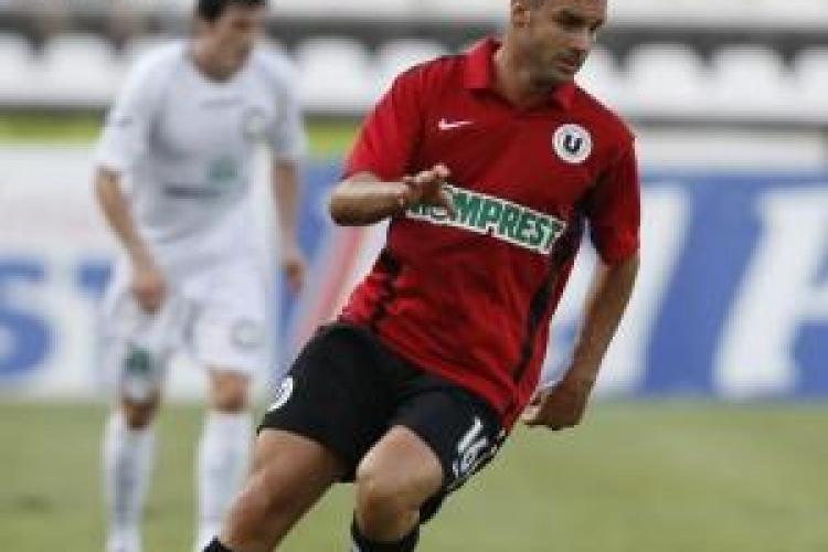 Roberto Delgado, de la U Cluj, sanctionat cu trei etape suspendare