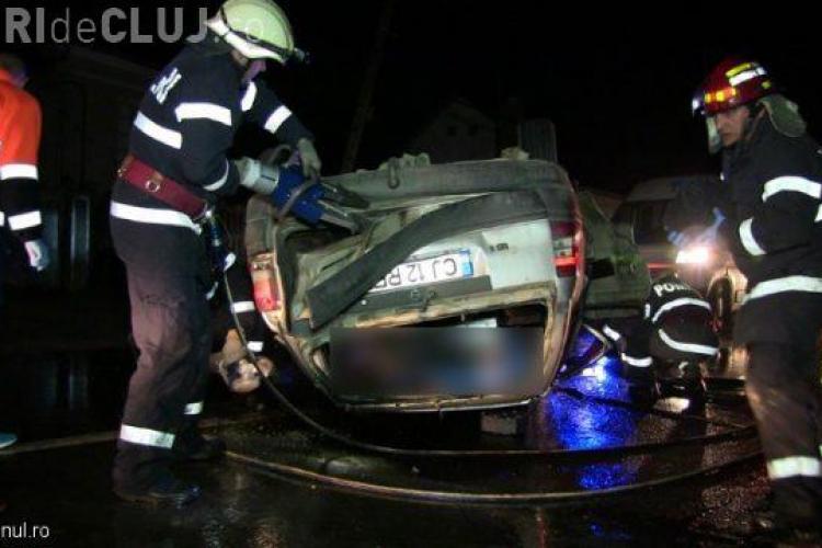 Tragedie la Cluj, în noaptea de Înviere. Doi tineri au murit într-un accident – VIDEO