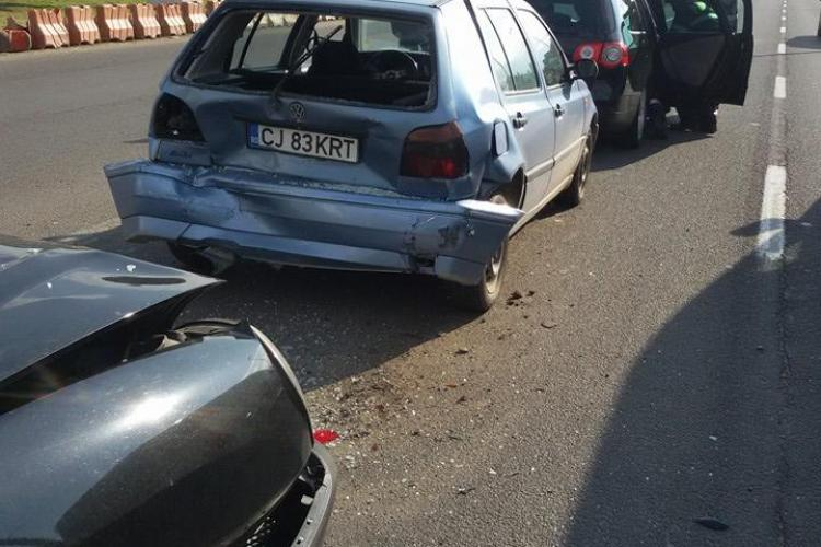 Accident cu trei victime la Polus Center, cauzat de un șofer de aproape 80 de ani