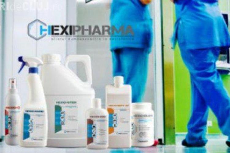 Hexi Pharma urmărită penal. Dezinfectanții erau diluați de mii de ori