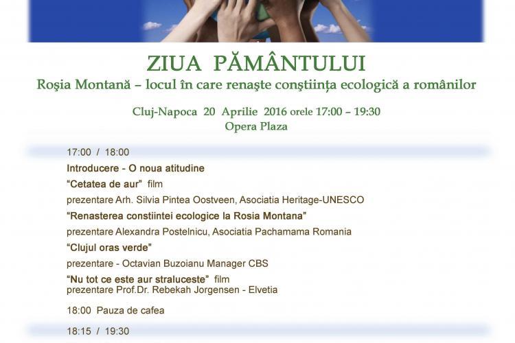 ZIUA PĂMÂNTULUI, sărbătorită la Cluj-Napoca cu o dezbatere despre Roşia Montană