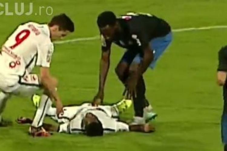 VIDEO - Momentul când fotbalistul de la Dinamo a căzut pe teren