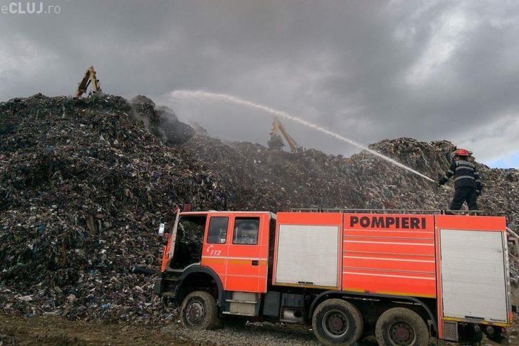 Amănunte despre incendiul de la rampa de gunoi de la Pata Rât - FOTO