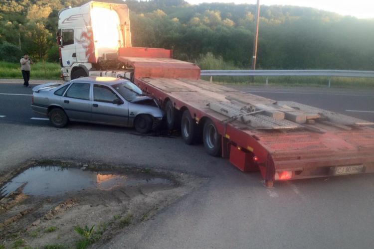 Accident la ieșire din Baciu - FOTO