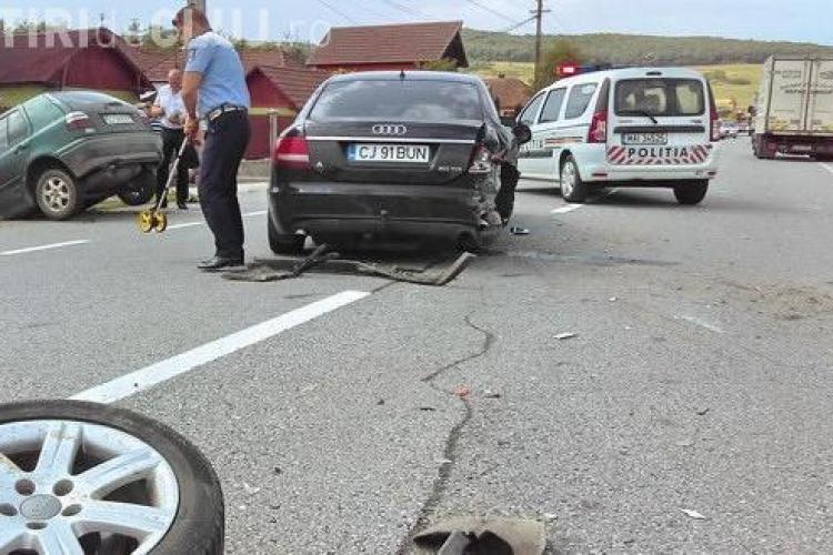 Accident între Gherla și Dej. Trei persoane au fost rănite – VIDEO