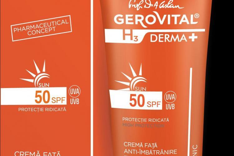 Farmec lansează două noi produse dermatocosmetice, în gama Gerovital H3 DERMA+ SUN (P)