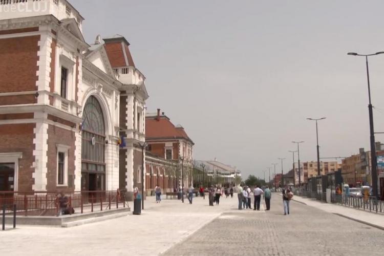 Lucrările în Piața Gării, finalizate în 30 iunie. Circulația rutieră va fi RESTRUCTURATĂ - VIDEO