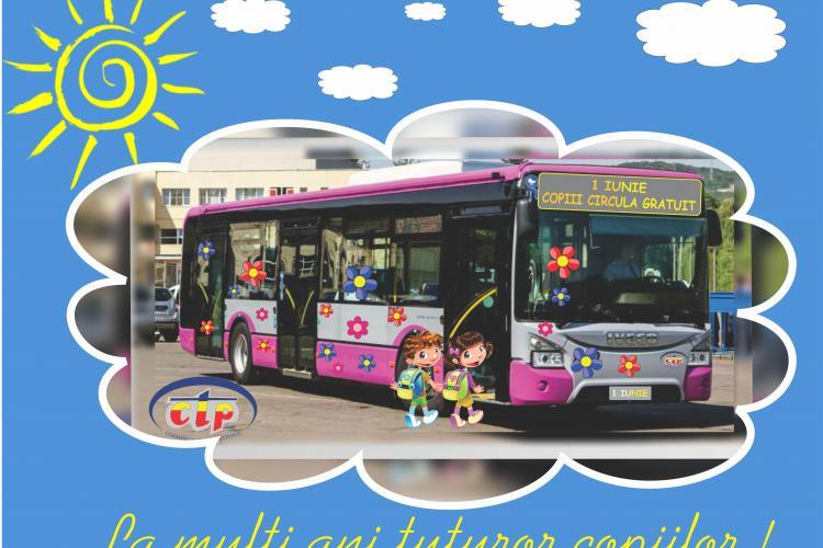 Copiii circulă GRATUIT de 1 iunie pe mijloacele de transport CTP Cluj