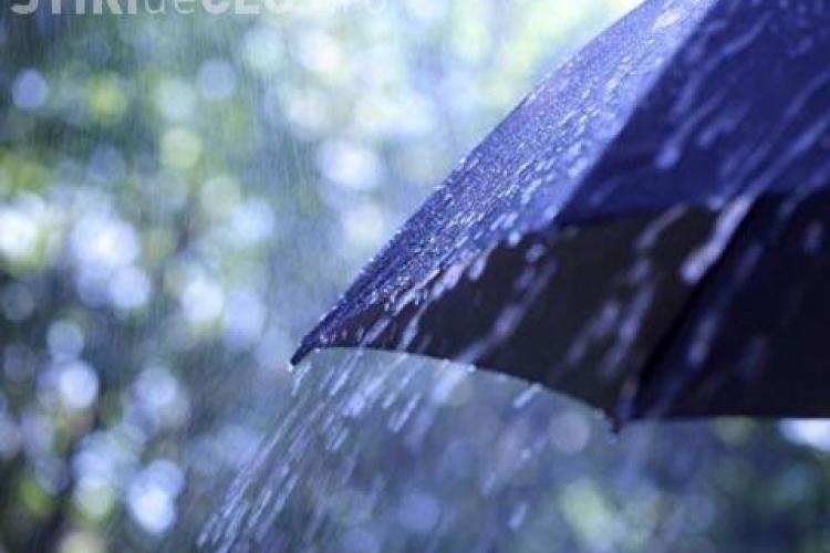 Alertă METEO la Cluj! Ploi torențiale și grindină