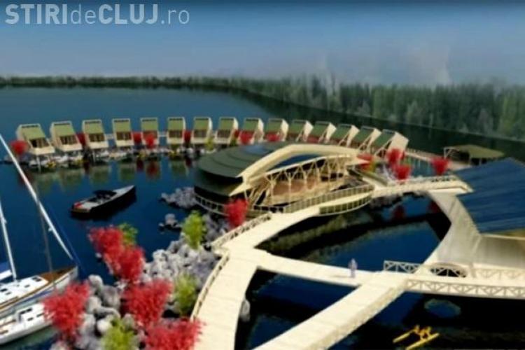 Se deschide prima stațiune plutitoare din Ardeal. Este practic un sat plutitor - VIDEO
