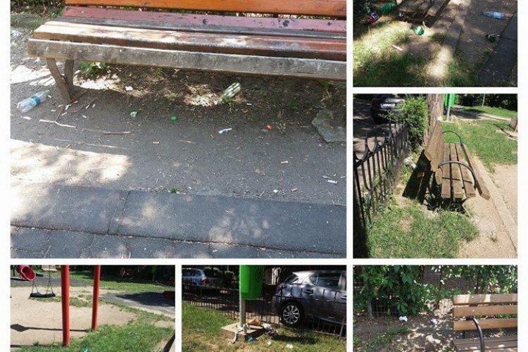 Condiții MIZERABILE într-un parc din Cluj-Napoca - FOTO