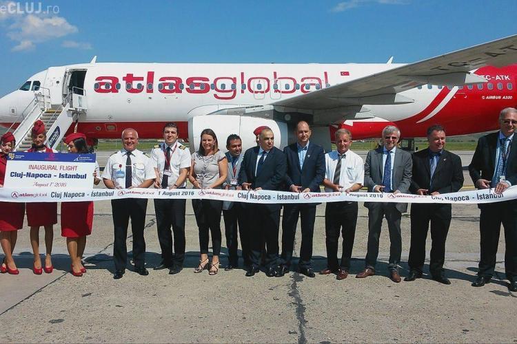 Atlasglobal a inaugurat zborul Cluj-Napoca - Istanbul
