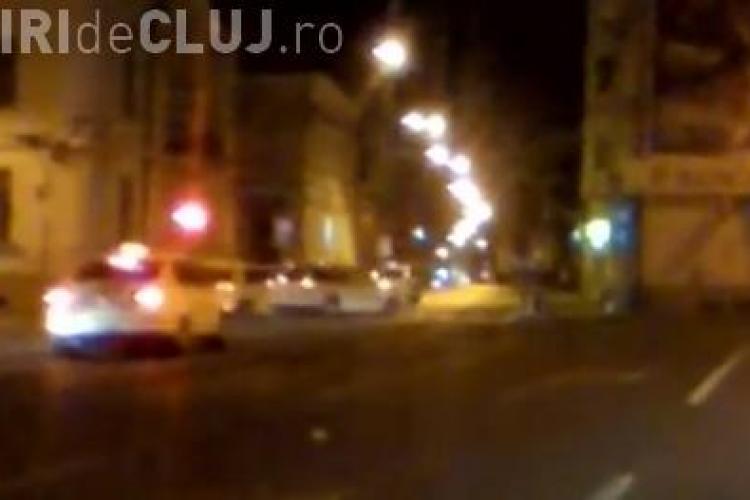 Accident surprins în direct în Piața Lucian Blaga, din Cluj-Napoca - VIDEO