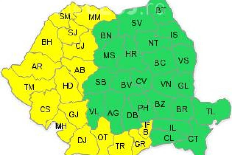 Clujul sub cod galben de caniculă. Ce anunță ANM