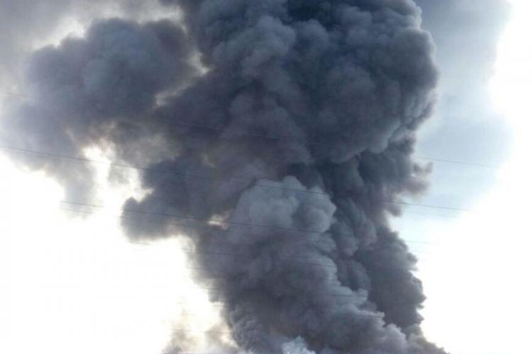 Incendiu PUTERNIC în Apahida, în satul Câmpenești - VIDEO