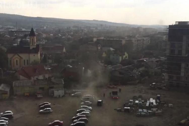 Acoperișuri luate de vânt la Cluj - VIDEO