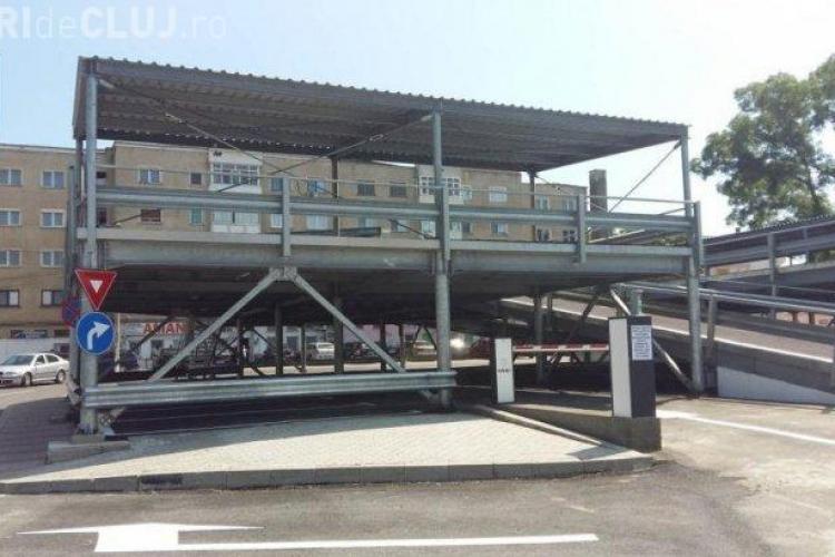 Imagini cu prima parcare modulară din România. Poate fi mutată oriunde - FOTO