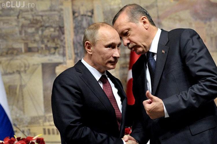 """După """"împăcarea"""" cu Putin, președintele Turciei merge în vizită în Rusia"""